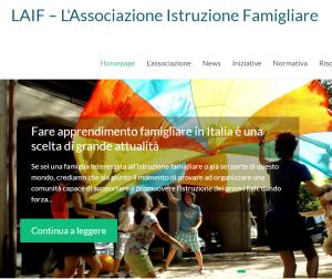 Visita il sito LAIF ed entra nel mondo dell'istruzione famigliare